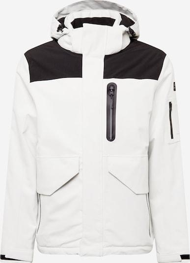 KILLTEC Outdoorjacke in hellgrau / schwarz, Produktansicht