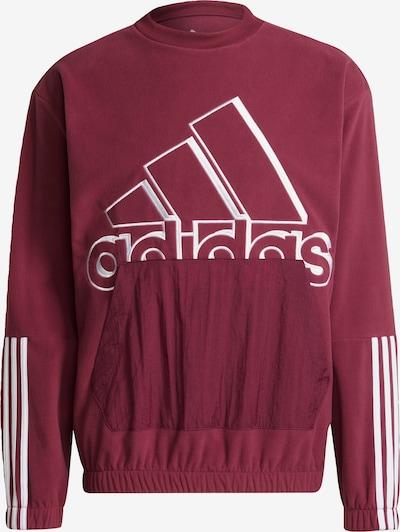 ADIDAS PERFORMANCE Sportsweatshirt in de kleur Merlot / Wit, Productweergave