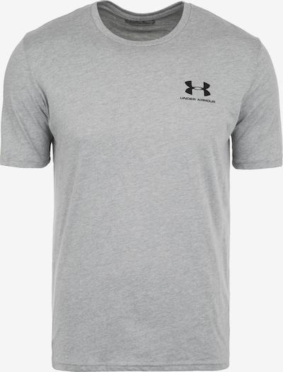 UNDER ARMOUR Funkcionalna majica 'Sportstyle' | pegasto siva / črna barva, Prikaz izdelka