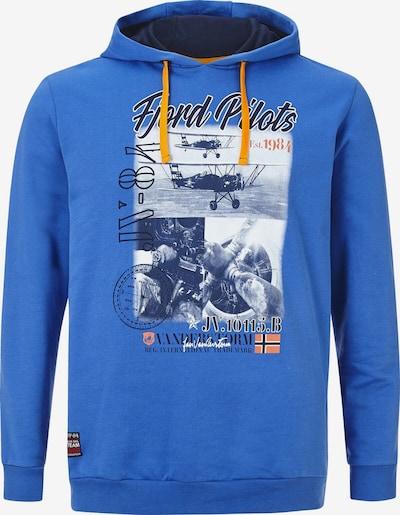 Jan Vanderstorm Sweat-shirt 'Melf' en bleu roi / gris / anthracite / blanc, Vue avec produit