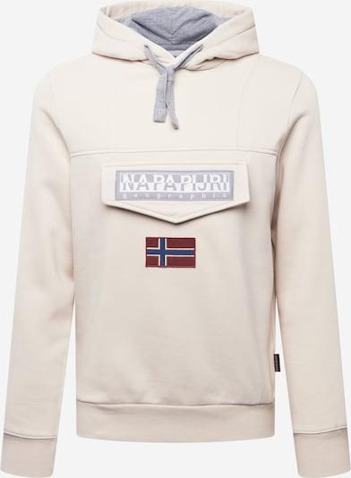 NAPAPIJRI Sweatshirt 'BURGEE' in grau / weiß, Produktansicht