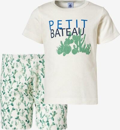 PETIT BATEAU Schlafanzug in nachtblau / himmelblau / grün / hellgrün / weiß, Produktansicht