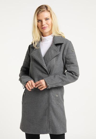 DreiMaster Vintage Mantel in dunkelgrau, Modelansicht