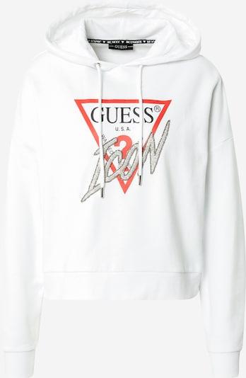 GUESS Sweatshirt in melone / schwarz / offwhite, Produktansicht