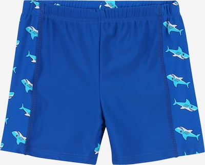 PLAYSHOES Swimming shorts 'Hai' in blue / aqua / white, Item view
