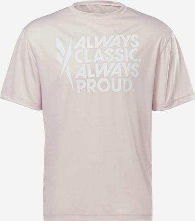 Reebok Sport T-Shirt 'Tech Style Pride' in rosa / weiß, Produktansicht