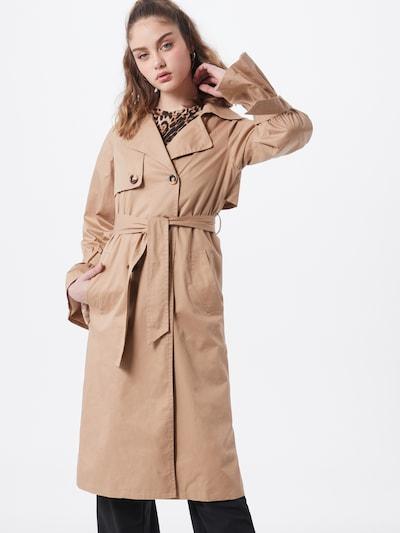 Rudeninis-žieminis paltas iš GLAMOROUS , spalva - smėlio, Modelio vaizdas