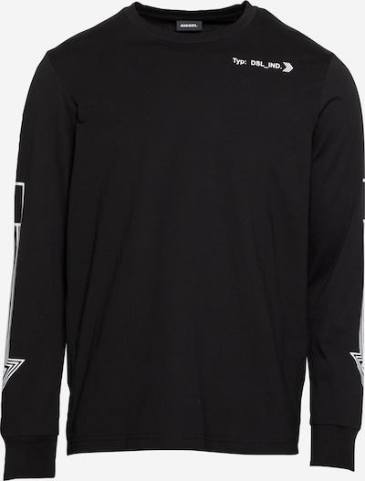 DIESEL Shirt 'JUST' in de kleur Zwart / Wit, Productweergave