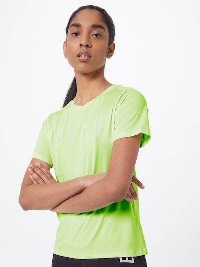 NIKE Funkcionalna majica 'Miler' | neonsko zelena / srebrna barva: Frontalni pogled