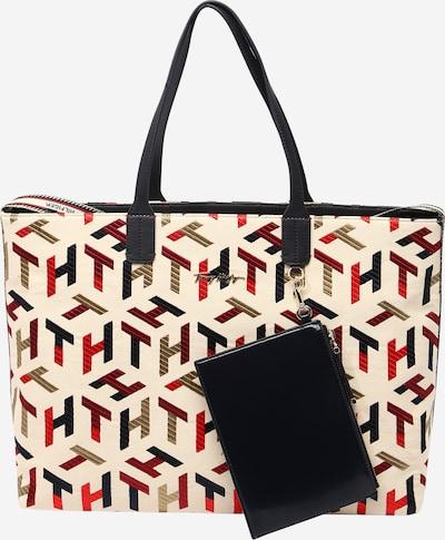 TOMMY HILFIGER Handväska i champagne / brun / blandade färger / röd / svart, Produktvy