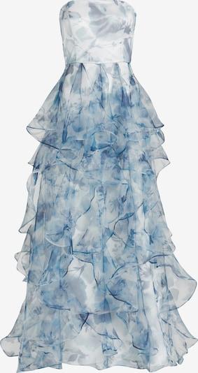 Vera Mont Avondjurk in de kleur Crème / Lichtblauw, Productweergave