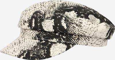 Șapcă 'ELBSEGLER' TAMARIS pe negru / coajă de ou: Privire frontală