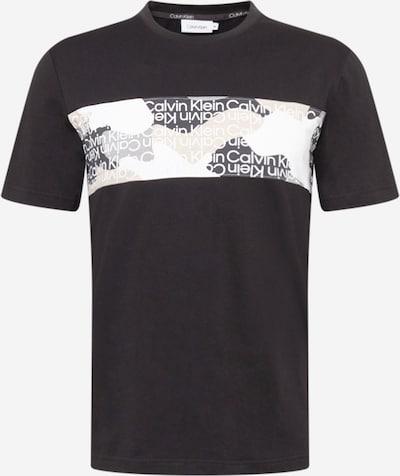 Calvin Klein Bluser & t-shirts i beige / lysegrå / sort / hvid, Produktvisning