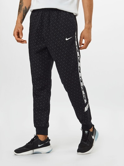 Nike Sportswear Trousers in taupe / black / white, View model