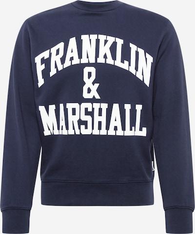 FRANKLIN & MARSHALL Sweatshirt in navy / weiß, Produktansicht