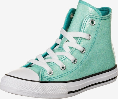 CONVERSE Chuck Taylor All Star Coated Glitter High Sneaker Kinder in türkis / schwarz / weiß, Produktansicht