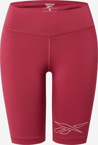 Pantalon de sport Reebok Sport en rouge
