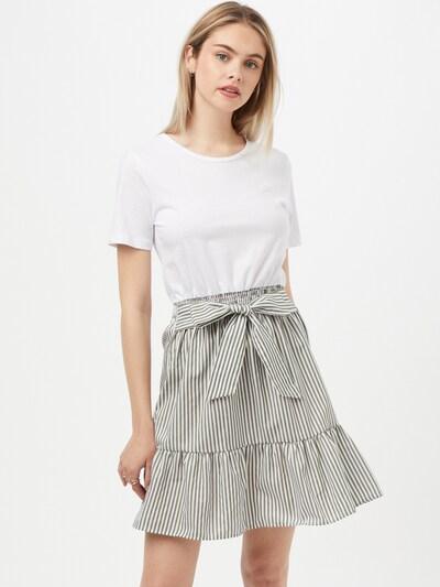 Trendyol Kleid in grau / weiß, Modelansicht