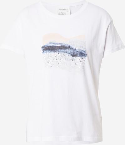 ARMEDANGELS Camiseta 'NELA' en crema / azul ahumado / gris oscuro / blanco, Vista del producto