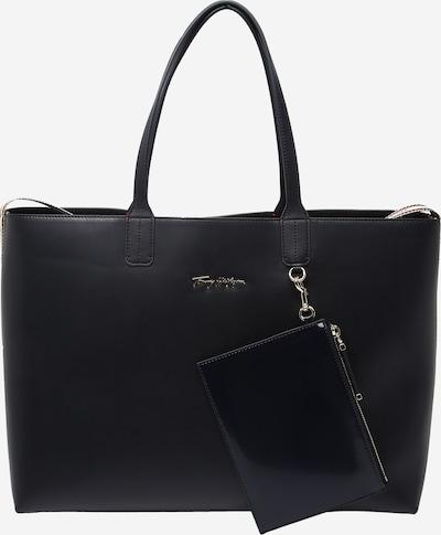 TOMMY HILFIGER Shopper in de kleur Beige / Donkerblauw / Wit, Productweergave