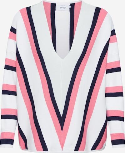 ONLY Pullover in rosa / schwarz / weiß, Produktansicht