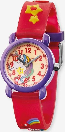 Engelsrufer Uhr in lila / rot, Produktansicht