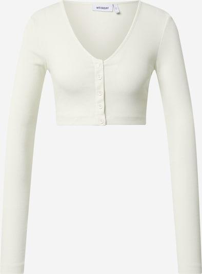 WEEKDAY Knit cardigan 'Teegan' in White, Item view