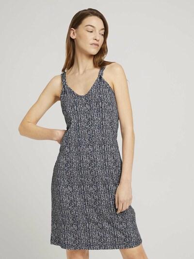 Rochie TOM TAILOR pe albastru închis / alb, Vizualizare model