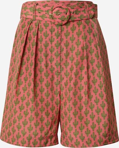 STEFFEN SCHRAUT Bandplooibroek 'Julia' in de kleur Lichtgroen / Pitaja roze, Productweergave