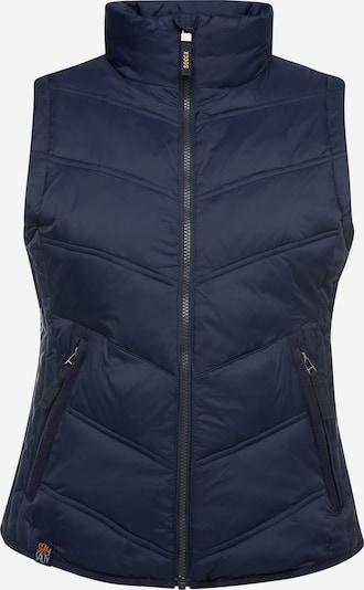 Soccx Outdoorweste mit Zippertaschen in dunkelblau, Produktansicht