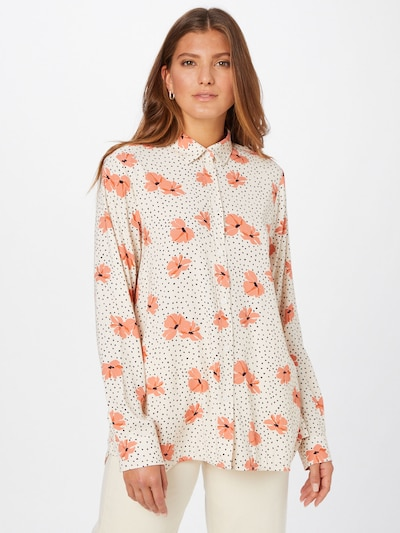 SEIDENSTICKER Bluse in lachs / schwarz / weiß, Modelansicht