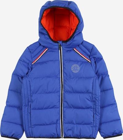 s.Oliver Winterjas in de kleur Blauw gemêleerd / Oranjerood / Zwart / Wit, Productweergave