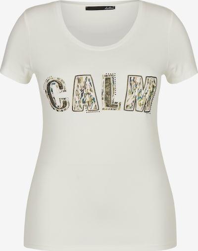 Lecomte Shirt in creme / dunkelgrün, Produktansicht
