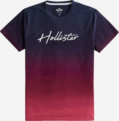 HOLLISTER Tričko - noční modrá / rubínově červená / pastelově červená / bílá, Produkt