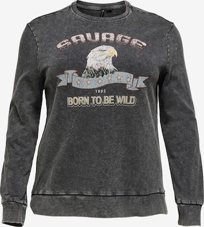 ONLY Carmakoma Sweatshirt 'Elizabeth' in de kleur Donkergrijs, Productweergave