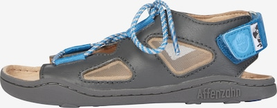 Affenzahn Sandale Leder 'HUND' in blau, Produktansicht