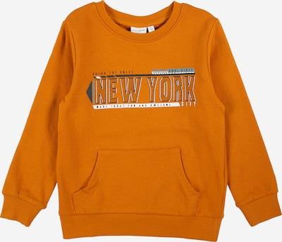 NAME IT Sweatshirt 'VILDAR' in de kleur Grijs / Antraciet / Donkeroranje / Wit, Productweergave
