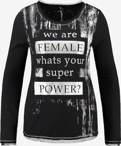 Key Largo Shirt 'Power' in schwarz / silber, Produktansicht