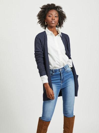 VILA Knit cardigan 'Ril' in Night blue, View model