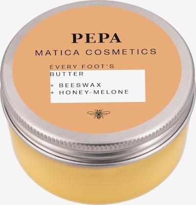 Matica Cosmetics Fussbutter in gelb, Produktansicht