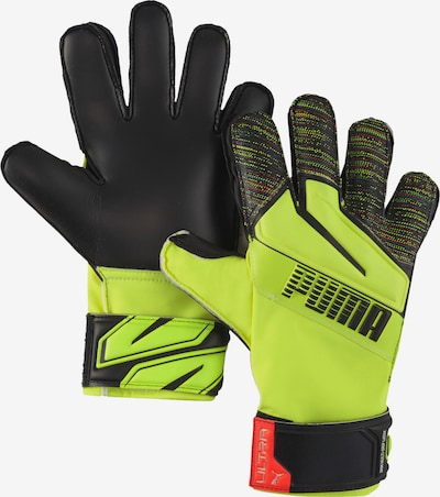 PUMA Sports gloves in Neon yellow / Light red / Black, Item view