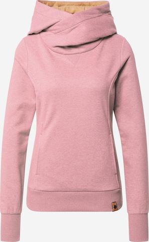 Fli Papigu Sweatshirt 'Schönste Frau in Stadt' in Pink