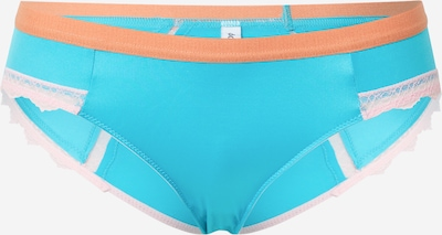 Dora Larsen Slip 'SIENNA' en turquoise / orange clair / rose pastel, Vue avec produit