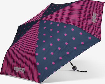 ergobag Regenschirm in dunkelblau / lila, Produktansicht