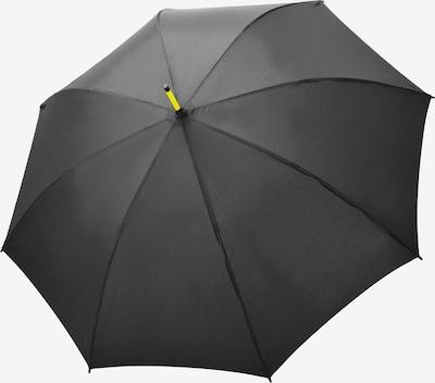 Doppler Regenschirm 'Fiber Party Automatic' in limone / anthrazit, Produktansicht