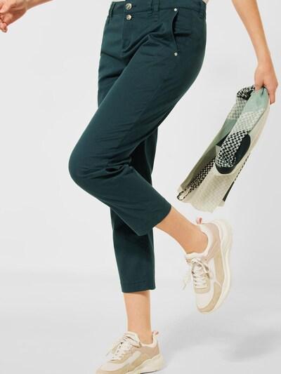 antracit / sötétzöld STREET ONE Chino nadrág, Modell nézet