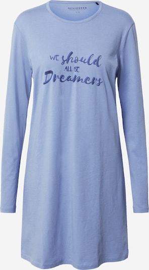SCHIESSER Nachthemd in rauchblau / dunkelblau, Produktansicht