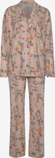 LASCANA Pyjama in navy / orange / rosa, Produktansicht