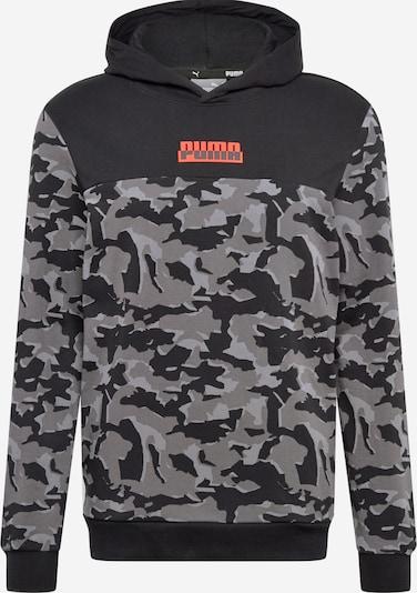 PUMA Sportiska tipa džemperis bazaltpelēks / koraļļu / melns, Preces skats