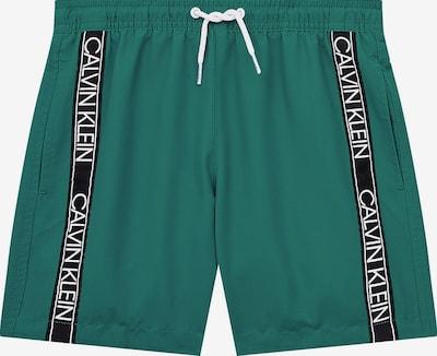 Calvin Klein Swimwear Zwemshorts in de kleur Donkergroen / Zwart / Wit, Productweergave